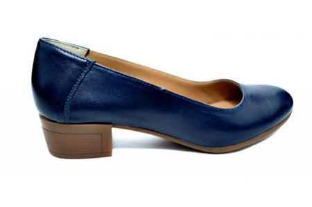 Pantofi cu toc Piele Naturala Bleumarin Siri D017500