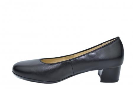 Pantofi cu toc Piele Naturala Negri Ara Smaranda D020761