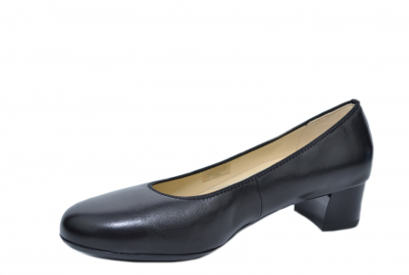 Pantofi cu toc Piele Naturala Negri Ara Smaranda D020762