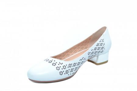 Pantofi cu toc Piele Naturala Albi Epica Tamara D018642