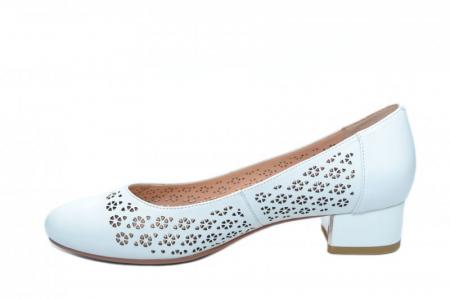 Pantofi cu toc Piele Naturala Albi Epica Tamara D018641