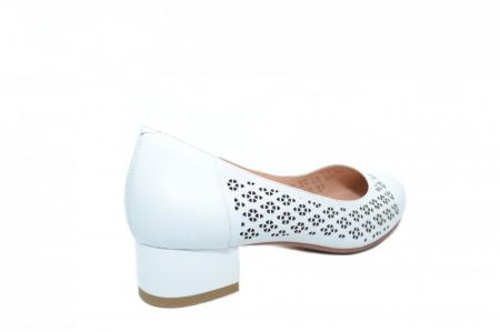 Pantofi cu toc Piele Naturala Albi Epica Tamara D018643