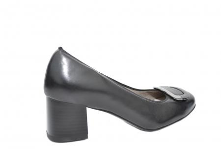 Pantofi cu toc Piele Naturala Negri Ara Tania D020770