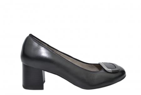 Pantofi cu toc Piele Naturala Negri Ara Tania D020771