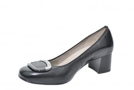 Pantofi cu toc Piele Naturala Negri Ara Tania D020772