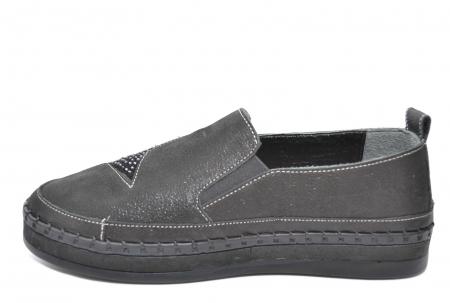 Pantofi Casual Piele Naturala Negri Tereza D020811