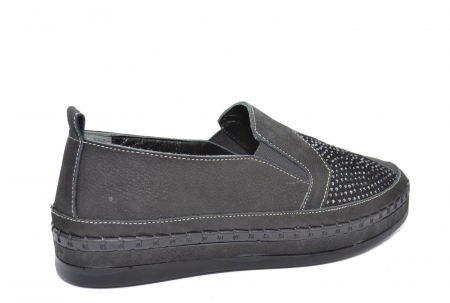 Pantofi Casual Piele Naturala Negri Tereza D02081 [3]