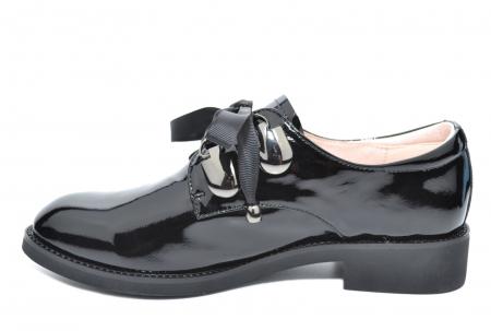 Pantofi Oxford Piele Naturala Neagra Tess D020780