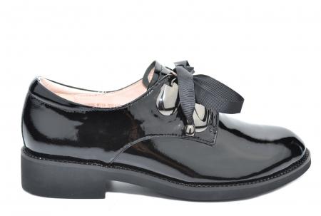 Pantofi Oxford Piele Naturala Neagra Tess D020781