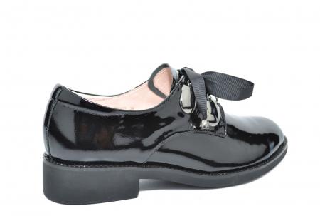 Pantofi Oxford Piele Naturala Neagra Tess D020783