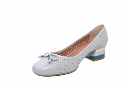 Pantofi cu toc Piele Naturala Gri Epica Thaisa D018632