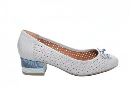 Pantofi cu toc Piele Naturala Gri Epica Thaisa D018630