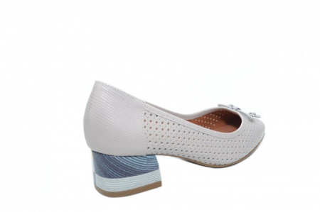 Pantofi cu toc Piele Naturala Gri Epica Thaisa D018633