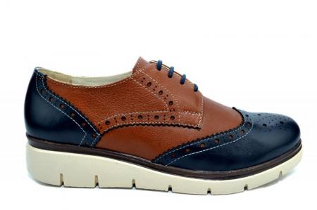 Pantofi Casual Piele Naturala Maro Valentina D012710