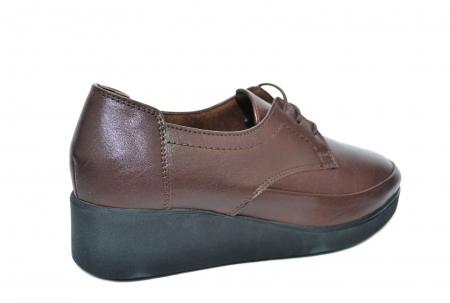 Pantofi Casual Piele Naturala Maro Vera D020903