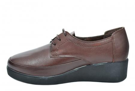 Pantofi Casual Piele Naturala Maro Vera D020901