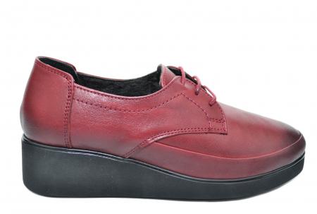 Pantofi Casual Piele Naturala Grena Vera D020920