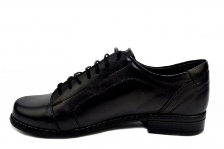 Pantofi Casual Piele Naturala Negri Victoria D012791