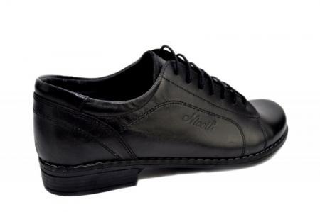 Pantofi Casual Piele Naturala Negri Victoria D012793