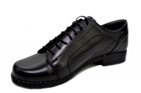 Pantofi Casual Piele Naturala Negri Victoria D012792