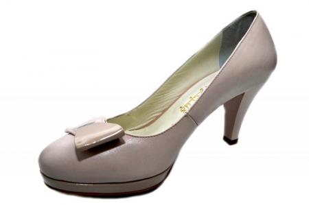Pantofi cu toc Piele Naturala Nude Yolanda D013332