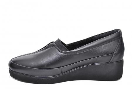 Pantofi Casual Piele Naturala Neagra Zamora D020870