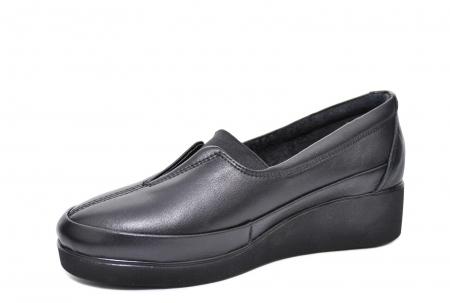 Pantofi Casual Piele Naturala Neagra Zamora D020872