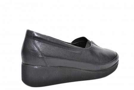 Pantofi Casual Piele Naturala Neagra Zamora D020873