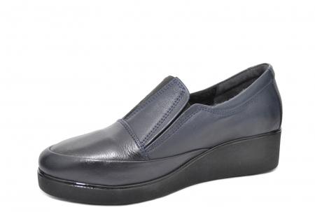 Pantofi Casual Piele Naturala Bleumarin Zina D020882