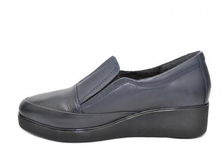 Pantofi Casual Piele Naturala Bleumarin Zina D020881