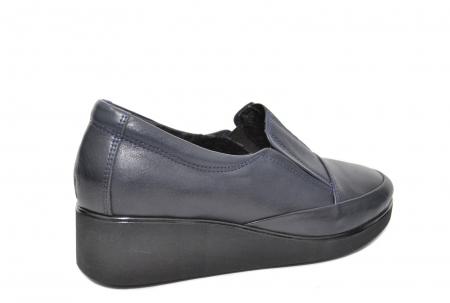Pantofi Casual Piele Naturala Bleumarin Zina D020883