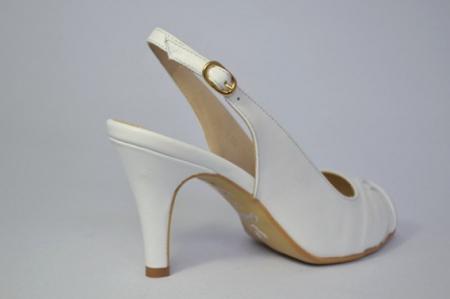 Pantofi-Sanda Piele Naturala Guban Albi Rona5