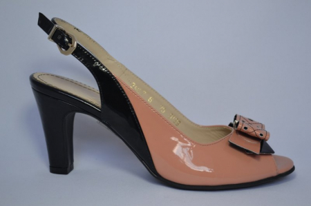 Pantofi-Sanda Piele Naturala Guban Bej Rola0