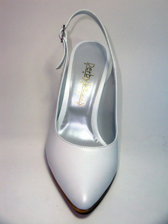 Pantofi Dama Piele Naturala Albi Reli D003406