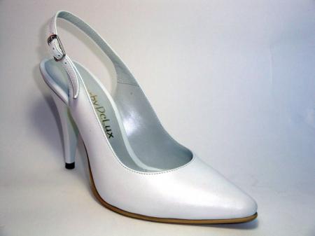 Pantofi Dama Piele Naturala Albi Reli D003403