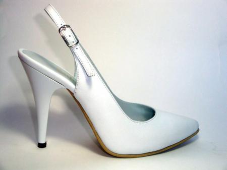Pantofi Dama Piele Naturala Albi Reli D00340 [0]