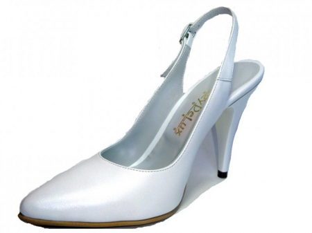 Pantofi Dama Piele Naturala Albi Reli D003402