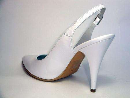 Pantofi Dama Piele Naturala Albi Reli D00340 [4]