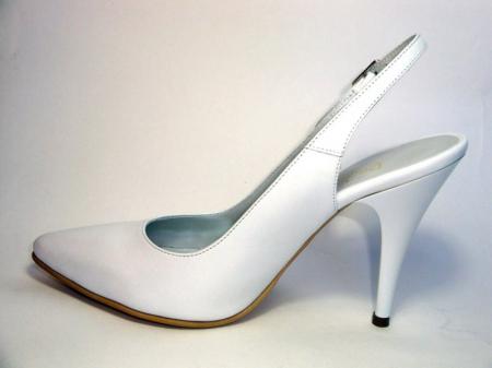 Pantofi Dama Piele Naturala Albi Reli D003401
