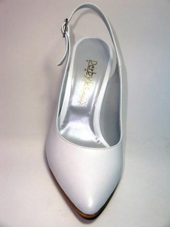 Pantofi Dama Piele Naturala Albi Reli D003407