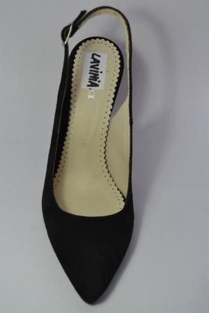Pantofi Dama Piele Naturala Negri Melinda D004626
