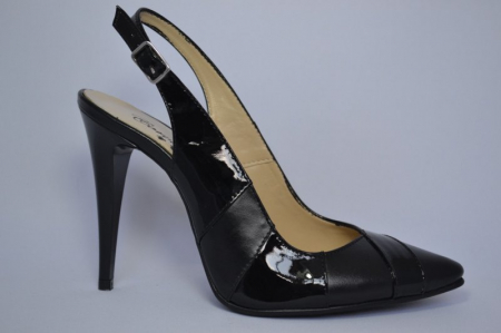 Pantofi Dama Piele Naturala Negri Lulu D006820