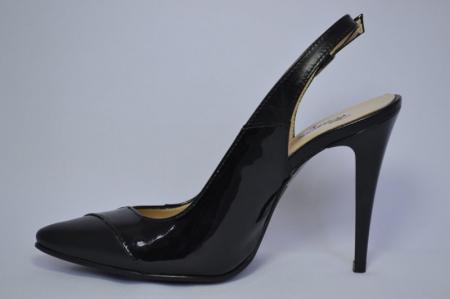Pantofi Dama Piele Naturala Negri Lulu D006821