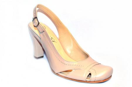 Pantofi Dama Piele Naturala Nude Vecky D008743