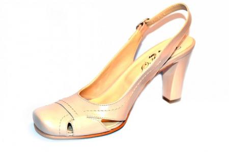 Pantofi Dama Piele Naturala Nude Vecky D008742