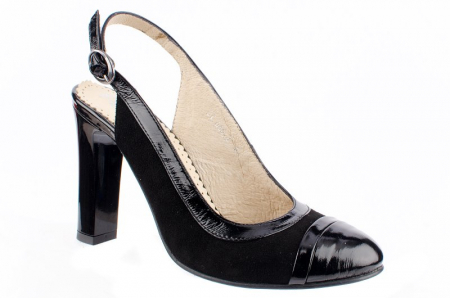 Pantofi Dama Piele Naturala Negri Mela D000380