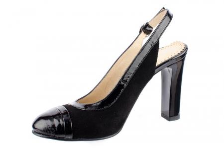 Pantofi Dama Piele Naturala Negri Mela D000381