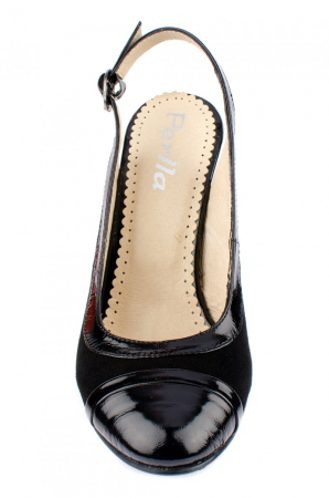 Pantofi Dama Piele Naturala Negri Mela D000382