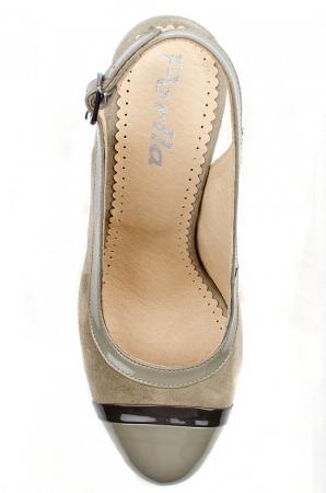 Pantofi Dama Piele Naturala Bej Vichi D00039 [2]