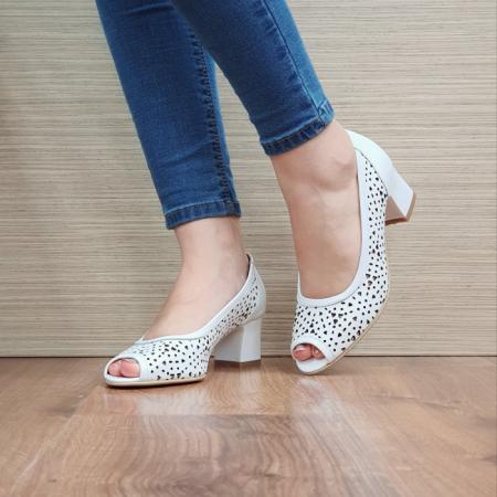 Pantofi Dama Piele naturala Albi Dona D024542